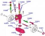 Запчасти для гидравлических тележек-гидроузел