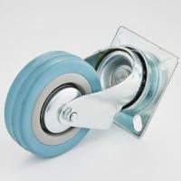 Комплект платформенных колес Ø160 мм серая резина (г/п 450кг).