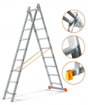 3х14 Лестница складная алюминиевая 14 ступеней