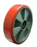 Колесо рулевое для рохлы 180 мм.полиуретан