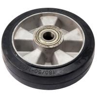 Колесо рулевое для рохлы 180 мм. литая резина