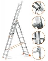 3х15 Лестница складная алюминиевая 15 ступеней